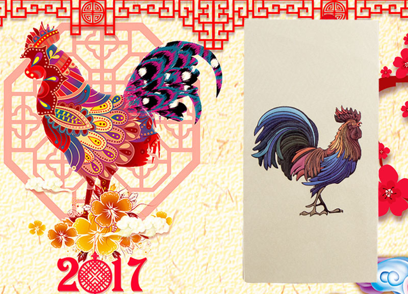Chinese new year of Rooster red envelope